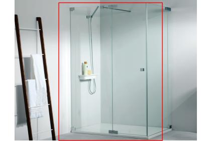 Двері душові ATTICA 9C (ліві) 90 см (відкривання 56 см) 2000 h: скло 8 мм прозоре (100142332)
