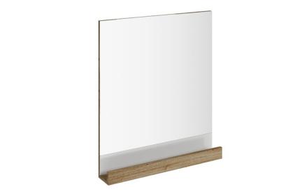 Зеркало 10* 650 с полочкой (темный орех) X000000853