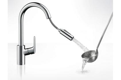 Смеситель Focus 240 для кухни с выдвижным изливом (31815000)