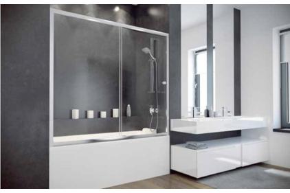 Шторка для ванни Duo Slide II 150 1500x1500 прозора
