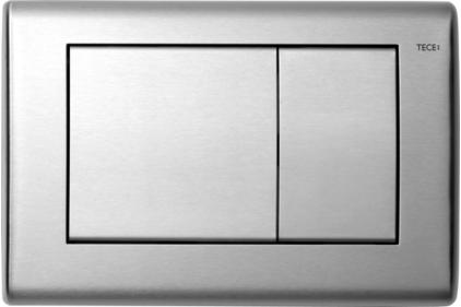 Панель змиву TECEplanus з двома клавішами: нержавіюча сталь, сатин  (9240320)
