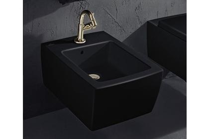 MEMENTO 2.0 Биде подвесное Glossy Black (443300SO) Ceramic Plus