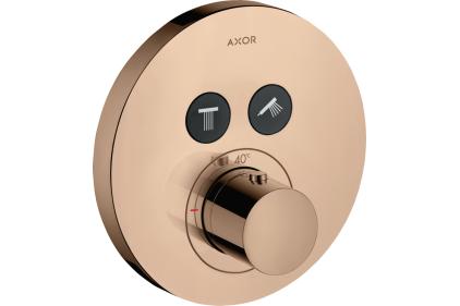 Термостат для двух потребителей Axor ShowerSelect S скрытого монтажа Polished Red Gold 36723300