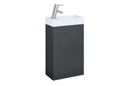Набір Young Basic Anthracite 1D 400х225: тумба + умивальник керамічний 166042
