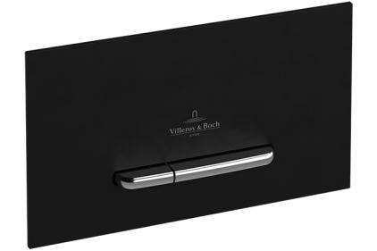 Кнопка смыва VICONNECT E300 пластик черный матовы /клавиша хромированная матовая (922169AN)