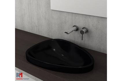 Умывальник ETNA 58.5x45.8 глянцевый черный (1112-005-0125)
