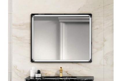 EURODESIGN Зеркало 100х80 с LED подсветкой Nero lucido (MTSP - AIR100)