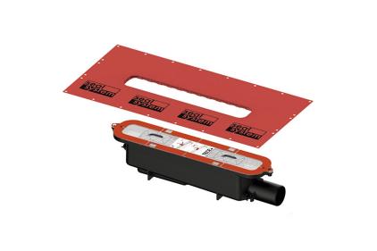 Cифон Drainprofile Standart 0.8 л/сек. горизонтальний відвід DN50 TECE (673002)