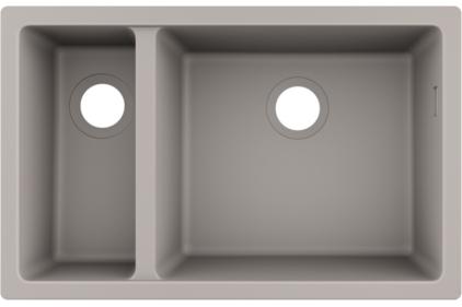 Кухонна мийка S510-U635 під стільницю 710х450 дві чаші 180/450 Concretegrey (43433380)
