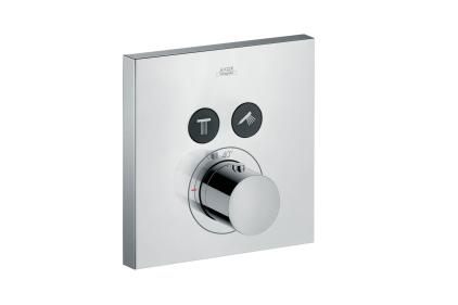 Термостат для двух потребителей Axor ShowerSelect square скрытого монтажа хромированный 36715000