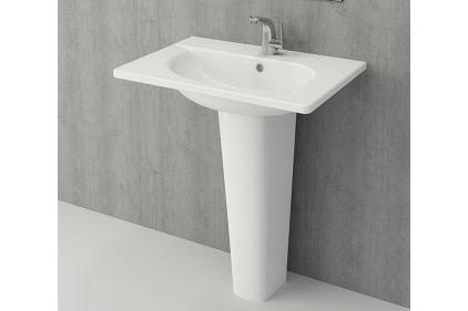 Умывальник TAORMINA ARCH 65х45 глянцевый белый (1009-001-0126)