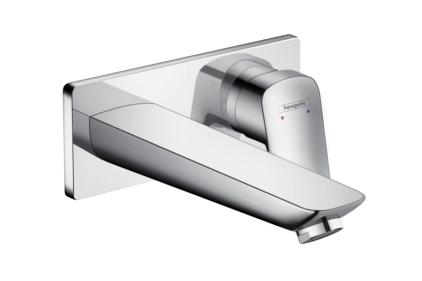 Змішувач Logis для раковини хромований зі стіни: прихований монтаж/195 мм (71220000)