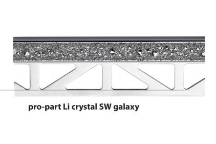 Декоративний профіль PRO-PART LI SW CRYSTAL GALAXY  (11 мм висота, 2500 мм довжина)