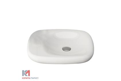 Умывальник FENICE 54х45 глянцевый белый (1164-001-0125) без отверстия для смесителя