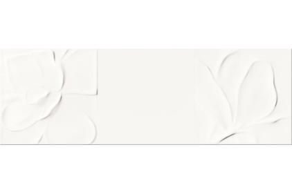 STRUCTURE PATTERN WHITE FLOWER STRUCTURE 25х75 (стена)