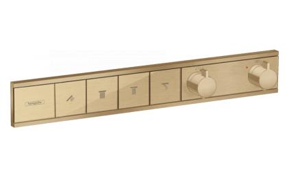 Термостат скрытого монтажа RainSelect на 4 клавиши Brushed bronze (15382140)