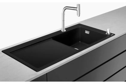 Кухонна мийка C51-F450-08 Сombi 1050x510 полиця праворуч, зі змішувачемSelect. Chrome (43219000)