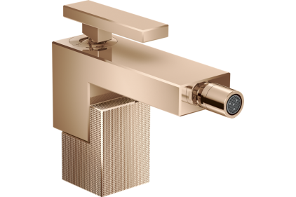 Смеситель Axor Edge для биде с push-open Diamond Cut/Polished Red Gold 46211300