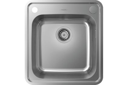 Кухонна мийка S412-F400 на стільницю 480х520 з сифоном automatic (43335800) Stainless Steel