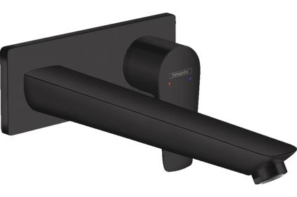 Смеситель Talis E для раковины из стены скрытого монтажа, 225 мм / Matt Black (71734670)