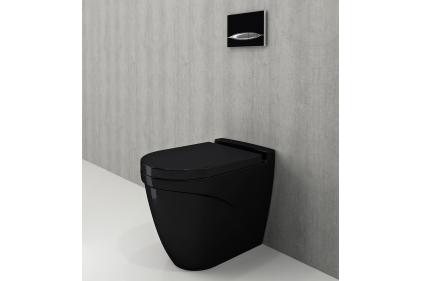 Унитаз напольный TAORMINA ARCH глянцевый черный + сиденье дюропластовое (1016-005-0129 + А300-005)