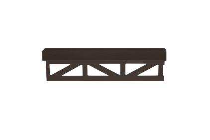 Декоративний профіль PRO-PART LATON GRAPHITE MATT LINE 11 мм