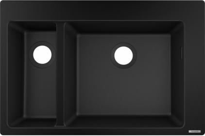 Кухонна мийка S510-F635 770х510 на дві чаші 180/450 Graphiteblack (43315170)