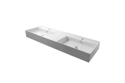 ESSENCE-C Умивальник подвійний 141 см підвісний з переливом та кріпленням, білий (100200976)