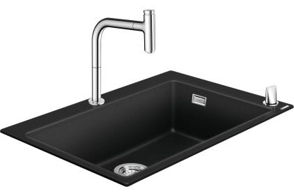 Кухонна мийка C51-F660-07 Сombi 770x510 Select зі змішувачем Chrome (43218000)