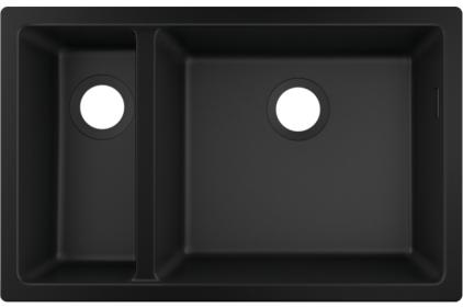 Кухонна мийка S510-U635  під стільницю 710х450 дві чаші 180/450 Graphiteblack (43433170)