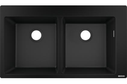 Кухонна мийка S510-F770 770х510 на дві чаші 370/370 Graphiteblack (43316170)