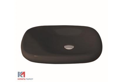 Умывальник FENICE 54х45 матовый коричневый (1164-025-0125) без отверстия для смесителя