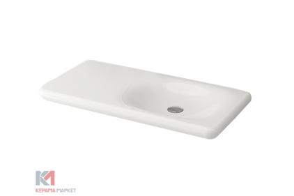 Умывальник FENICE 90 глянцевый белый (1165-001-0125) без отверстия для смесителя