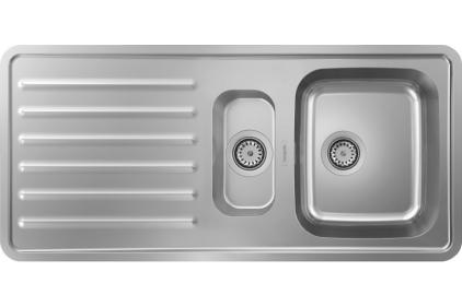 Кухонна мийка S4111-F540 на стільницю 1075х505 з сифоном (43342800) Stainless Steel