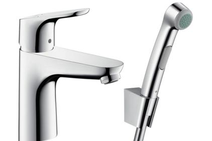 Смеситель Focus E 100 для умывальника с гигиеническим душем (31927000)