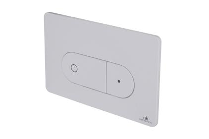 Smart-line Кнопка змиву OVAL подвійна біла (100104501)