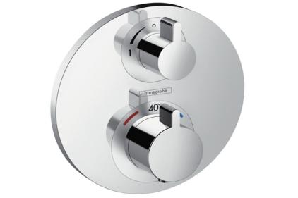 Термостат прихованого монтажу Ecostat S: зопірним/перемикаючим вентилем, двохрежимний (15758000)