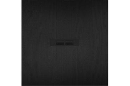 Поддон HELIOS черный из искусственного камня STONEX 90x90 квадратный: сифон + трап (AP2013843840140P)