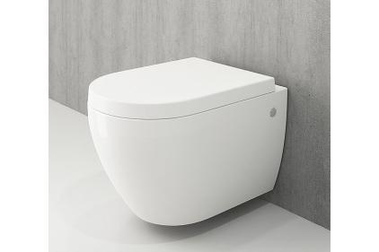Унитаз подвесной JET FLUSH белый глянцевый + сиденье дюропластовое (1171-001-0129 + А0300-001)