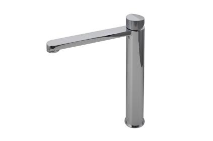 """TONO Змішувач для умивальника хромований Н237 мм: керамічний картридж Ø25 мм, підключення 3/8"""" (100184753)"""