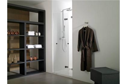 Двери душевые в нишу NEO 8 универсальные 90 см / 2056 h книга: стекло 8 мм прозрачное (100101353)