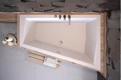 Ванна акрилова INTIMA DUO 180x125 Права (соло) без ніг
