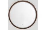 Зеркало TONO NOGAL Ø95 (круглое) рама из натурального дерева, цвет - орех (250043664/250043671) (100199921)