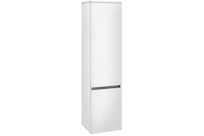 LEGATO Пенал 400x1550x350 Glossy White, петлі праворуч (B21301DH)
