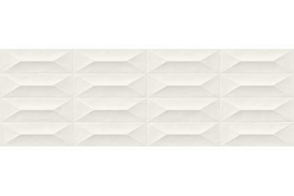M4KT COLORPLAY WHITE STRUTTURA CABOCHON 3D RET 30x90 (плитка настінна)
