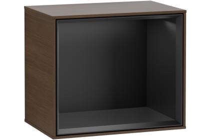 FINION Модуль 418x356x270 цвет Black Matt полочка Walnut Veneer + 1 LED подсветка (F580PDGN)