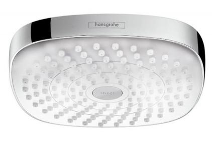 Верхний душ Croma Select E 180 2jet хромированный белый (26524400)