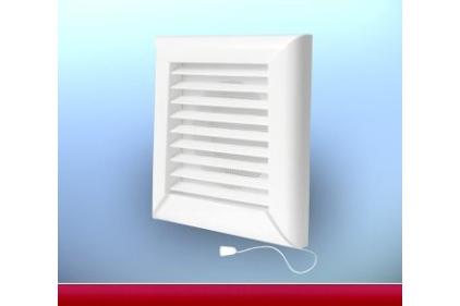 Вентиляционная решетка DOSPEL NKM 125 с механическими жалюзи