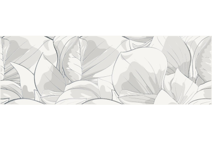 FLOWER CEMENTO WHITE INSERTO 24х74 (декор)