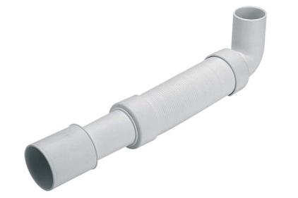Труба гофрированная угловая 40х40/50мм. 600мм HC745